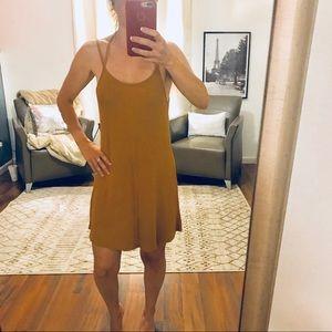 NWT The Hanger Mustard Halter Dress Size Small